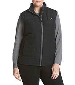 Exertek® Plus Size Solid Wave Quilted Vest