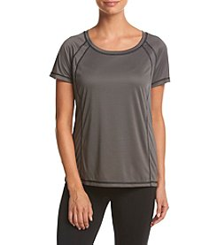 Exertek® Petites' Scoop Neck Micro Stripe Tee