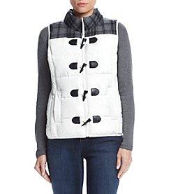 Ruff Hewn® Contrast Yoke Puffer Vest
