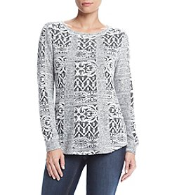 Ruff Hewn Jacquard Patch Work Sweater