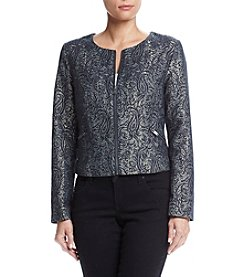 Ruff Hewn GREY Quilted Jacquard Jacket