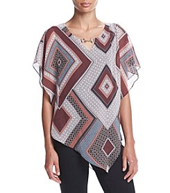 AGB® Printed Chain Front Poncho