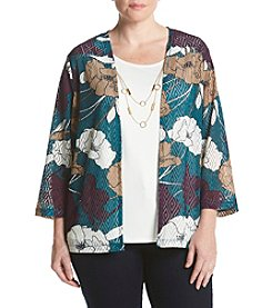 Alfred Dunner® Plus Size Floral Layered Look Top