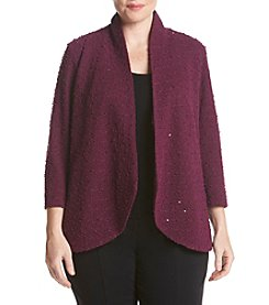 Alfred Dunner® Plus Size Veneto Valley Sequin Boucle Jacket
