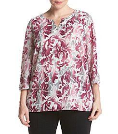Alfred Dunner® Plus Size Veneto Valley Printed Woven Top