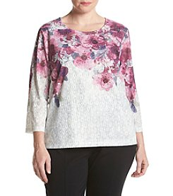 Alfred Dunner® Plus Size Veneto Valley Floral Top