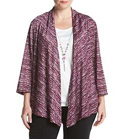 Alfred Dunner® Plus Size Veneto Valley Layered Look Space Dye Top