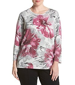 Alfred Dunner® Plus Size Veneto Valley Floral Shimmer Sweater