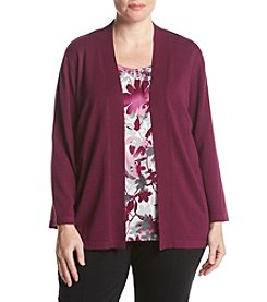 Alfred Dunner® Plus Size Veneto Valley Layered Look Floral Top