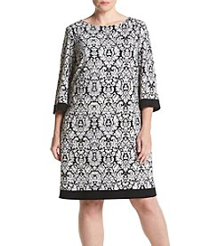 Jessica Howard® Plus Size Printed Shift Dress