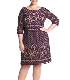 Gabby Skye® Plus Size Lace Cutout Dress