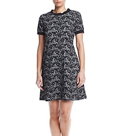 AGB® Lace Pattern Shift Dress