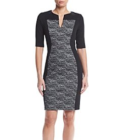 Connected® Patterned Center Panel Dress