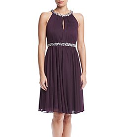Jessica Howard® Beaded Yoke Keyhole Dress