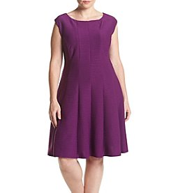 Gabby Skye® Plus Size Scuba Fit And Flare Dress