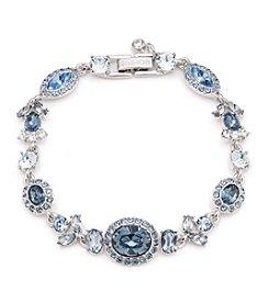 Givenchy® Silvertone Blue Flex Bracelet