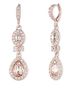 Givenchy® Rose Goldtone Drop Earrings