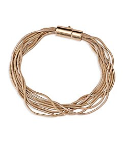 Lauren Ralph Lauren Fringe Worthy Goldtone Multi Chain Bracelet