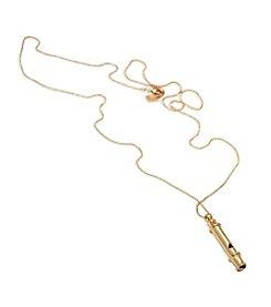 Lauren Ralph Lauren® Fringe Worthy Goldtone Whistle Necklace
