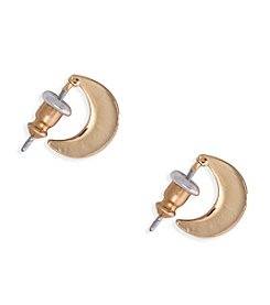 Lauren Ralph Lauren Fringe Worthy Goldtone Small Hoop Pierced Earrings