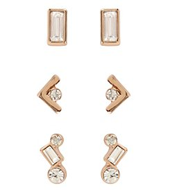 Kenneth Cole® Goldtone Faceted Stone Stud Earrings Set