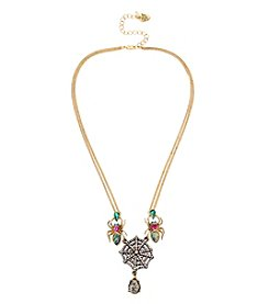 Betsey Johnson® Goldtone Spider Frontal Necklace