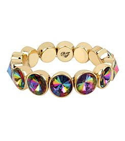 Betsey Johnson® Goldtone Multi Colored Faceted Stone Stretch Bracelet