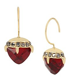 Betsey Johnson® Goldtone Faceted Stone Drop Earrings