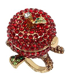 Betsey Johnson® Goldtone Faceted Stone Fruit Keepsake Ring