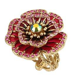 Betsey Johnson® Goldtone Rose Ring