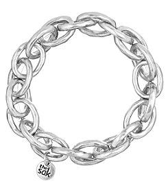The Sak® Silvertone Link Stretch Bracelet