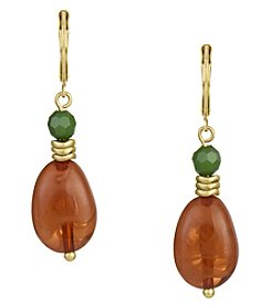 The Sak® Goldtone Double Stone Drop Earrings