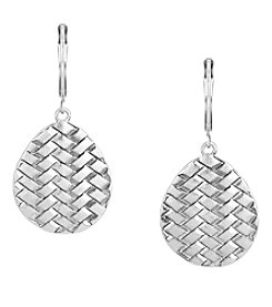 The Sak® Silvertone Basketweave Drop Earrings