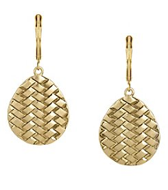 The Sak® Goldtone Basketweave Drop Earrings