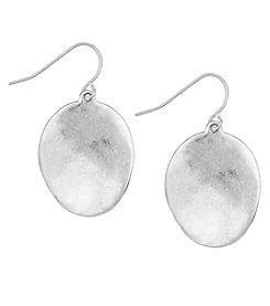 The Sak® Silvertone Wavy Disc Drop Earrings