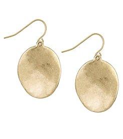 The Sak® Goldtone Wavy Disc Drop Earrings