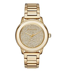 Michael Kors® Women's Kinley Goldtone Stainless Steel Pave Watch