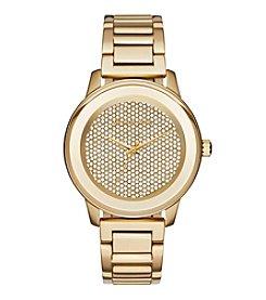 Michael Kors® Women's Kinley Goldtone Stainless Steel Pave Watch
