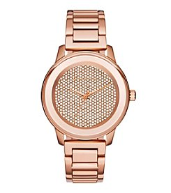 Michael Kors® Women's Kinley Rose Goldtone Stainless Steel Pave Watch