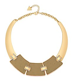 GUESS Goldtone Faux Ostrich Choker Necklace