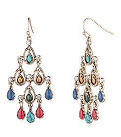 Nine West Vintage America Collection® Goldtone And Multicolored Chandelier Earrings