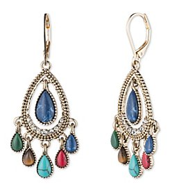 Nine West Vintage America Collection® Goldtone And Multi Teardrop Shaky Orbital Earrings