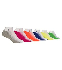 Polo Ralph Lauren® 6-Pack Gradient Sole Socks