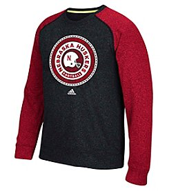 adidas® Men's NCAA® University Of Nebraska Loyal Badge Long Sleeve Tee