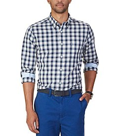 Nautica® Men's Big & Tall Plaid Long Sleeve Button Down Shirt
