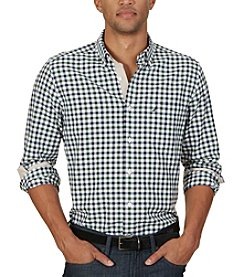 Nautica® Men's Big & Tall Long Sleeve Checked Pocket Button Down Shirt