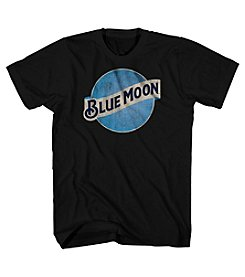 Mad Engine Men's Blue Moon Short Sleeve Graphic Tee