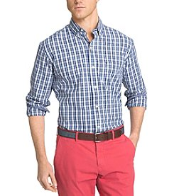 Izod® Men's Big & Tall Long Sleeve Button Down Checked Shirt