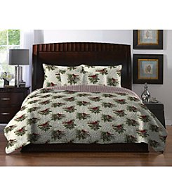 LivingQuarters New Haven Pinecone Quilt Collection