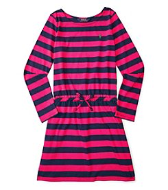 Polo Ralph Lauren® Girls' 7-16 Long Sleeve Striped Dress